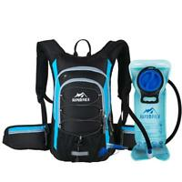 Hydration Backpack Pack With 2l Bladder Water Bag Pouch Camping Hiking Gear New