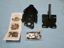 Pad Lockable Fence Gate Latch ( Black ) Steel / Reversible  / Lock Either End