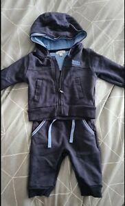 HUGO BOSS BOYS BLUE BABY TRACKSUIT - 3 - 6 MONTHS