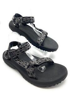 Teva Strap Sandals 6584 Mens Gray Multi Print Waterproof Hook Loop Close Size 12