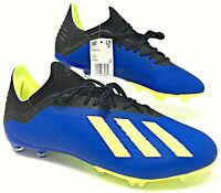 Adidas 18.2 FG Mens Soccer Cleats Blue-Black-Solar Yellow DA9334 MSRP $130.00