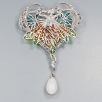 Pearl Brooch Silver 925 Sterling New Arrived jewelry /NB09389