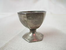 Vintage Silver tone miniature footed Cup Goblet hexagon sides Diamond D mark