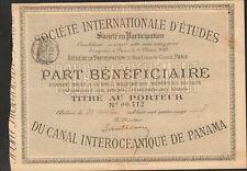 Société Internationale d'Etudes du CANAL INTEROCEANIQUE DE PANAMA (I)