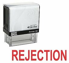 REJECTION Office Self Inking Rubber Stamp - Red Ink (E-5605)