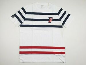 Polo Ralph Lauren White Striped P-Wing Performance T-Shirt Size Large L NWT