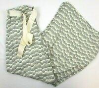 Elevenses Black White Circles Lines Wide Leg Pants Size US 2 Palazzo Tie Belt