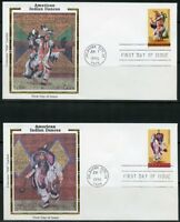 UNITED STATES COLORANO  1993 SET OF FIVE NDIAN  DANCES  FDCs