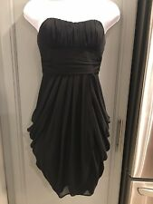 Womans Black Sweatheart Top Short Dress Size 1/2 *EUC*