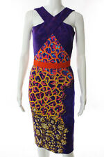 PETER PILOTTO Multi-Color Abstract Print Sleeveless Dress Size 8 New 103968