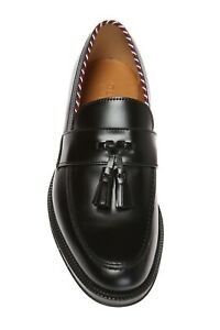 Preowned Gucci 523273 Men's US Size 7.5 PERMANENT COLLECTION FRINGED LOAFERS