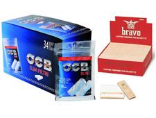 4080 Filtri OCB Slim 6mm 34 BUSTINE 1 Box + 4000 Cartine BRAVO REX CORTE 100 Pz