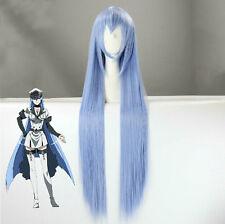Akame ga Kill! Esdeath Cosplay Long Blue Straight 100cm Wig + Free Wig Cap