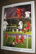 Signed Steven Gerrard - Smicer - Alonso - Photo 2005 Champions League Poster