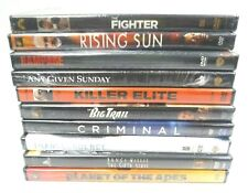 (Lot of 10) Dvd Movies (Rising Sun, The Sixth Sense, Killer Elite) Free Shipping