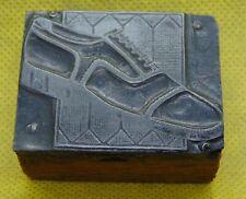 Vintage Printing Letterpress Printers Block Men's Designer Dress Shoe Fashion