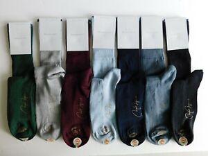 VK Nagrani Men's Premium Luxury Socks Over Calf Slim Narrow Calf Ribbed L-208