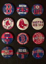 Boston Red Sox Baseball - Set of 12 Buttons (>Free Shipping<)