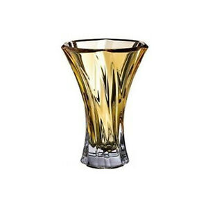 Modern Crystal Hand-Crafted Decorative Flower Vase for Home Decor - 12.5 Inches