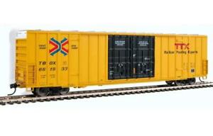 Walthers TTX TBOX 60' High Cube Plate F Plug Door Boxcar 910-3000 HO Scale