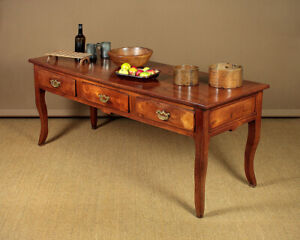 Antique 19th.c. French Cherrywood Kitchen Dining Table c.1810.