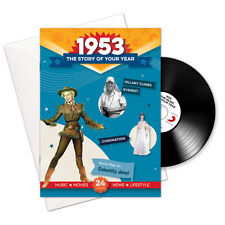 65th Birthday Anniversary Gift -1953 4-In-1 Card - Story of Your Year CD