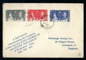 Cyprus - 1937 KGVI Coronation First Day Cover