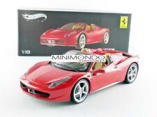 FERRARI 458 ITALIA SPIDER RED ROSSA 2008 1/18 ELITE BCJ89