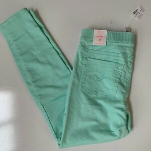 Justice Girls NWT mint green mid rise leggings jeggings soft & stretch 12 plus
