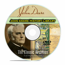 The History of John Deere, Farming, Plow Catalogs, Antique Tractor Books DVD E73