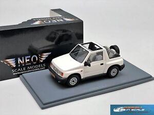 Suzuki Vitara 1.6 JLX 4x4 Convertible white 1995 NEO44980 1:43