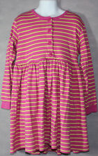 Girls BOUTIQUE HANNA ANDERSSON Pink Yellow STRIPED L/S PLAY DRESS 130 7 10 Years