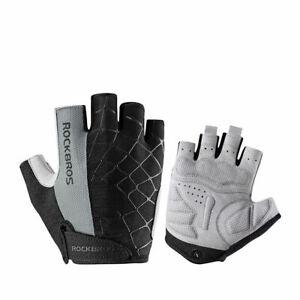 RockBros Half Finger Cycling Short Gloves Shockproof Breathable Cobweb Gloves