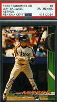 Jeff Bagwell Psa Dna Coa Autograph 1993 Stadium Club Authentic Hand Signed