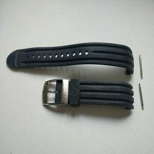 Bracelet caoutchouc noir pour montre Sector 200/Sector 600