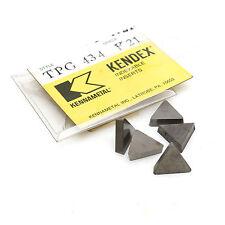 Kennametal TPG 434 K21 Triangular Carbide Inserts Pack of 5