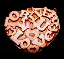 Love You Forever Heart - Flexible Silicone Mold-Cake Cookies Clay  Crafts Candy