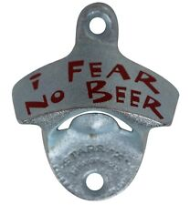 """""""I fear no beer"""" new wall mounted beer bottle opener bar decor with screws"""