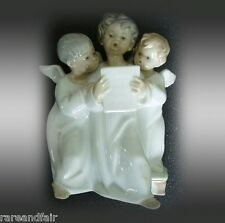 Lladro group figurine of three singing angels - marked FREE SHIPPING