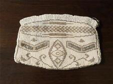 Vintage Tan and Ivory Beaded Purse