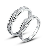 His & Hers Rings Solid Sterling Silver Couple Promise Rings Set Nickel Free