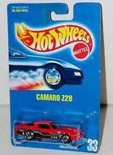 Hot Wheels Camaro Z-28 - Metal Base - Blue Card Collector #33 Malaysia 1991
