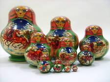 Russian 10pc Handpainted Nesting Doll Russian Troika