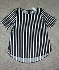 Regular Size Evening, Occasion Striped Short Sleeve Tops & Blouses for Women
