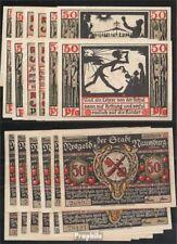 Deutsches Reich Notgeld: 928.4a) A-M Zwölf Notgeldscheine der Stadt Naumburg ban