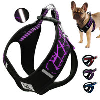 Step In Dog Harness Reflective Padded Pet Vest Adjustable for French Bulldog S-L