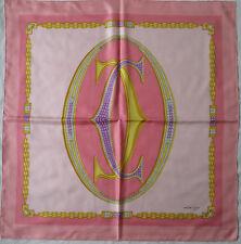 -Superbe Foulard MUST DE CARTIER Paris 100% soie  TBEG vintage scarf