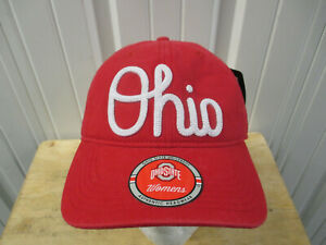 OHIO STATE BUCKEYES SCRIPT STRAPBACK DAD RED CAP HAT NEW W/ TAGS WOMEN'S