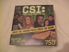 New CSI 750 Piece Jigsaw With Ultraviolet Flashlight to Uncover Hidden Clues