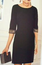 Round Neck Dresses Size Petite for Women with Sequins